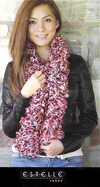 PICCADILLY Peach Scarf