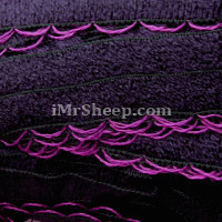 KATIA RONDA 98% Acrylic, 2% Polyester], Frill Tape, 206 Aubergine Aubergine with Orchid edge