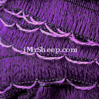 KATIA RONDA 98% Acrylic, 2% Polyester], Frill Tape, 207 Grape with Orchid edge
