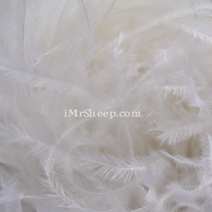 Lanas Stop STRUZZO [60% Ostrich Feathers, 40% Acrylic], Ostrich Feather Yarn, col 000