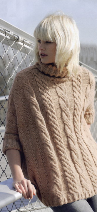 Pullover-Poncho, Fait Main Tricot