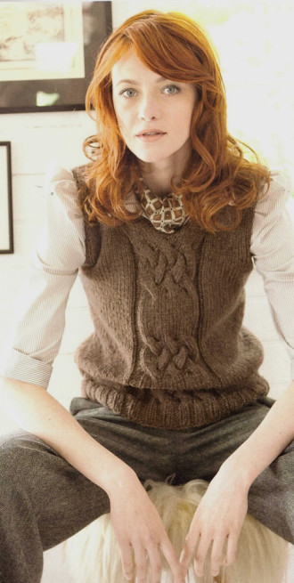 Vest With Cable Detail, Filati Handknitting 49