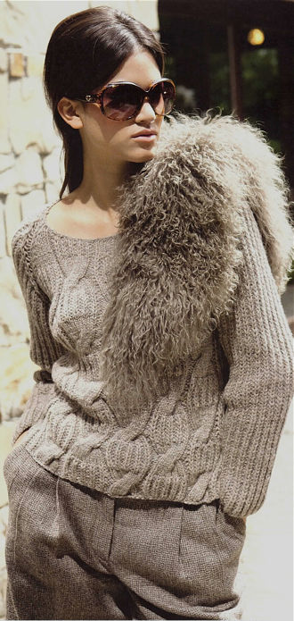 SHAKER RIB SWEATER, LANA GROSSA