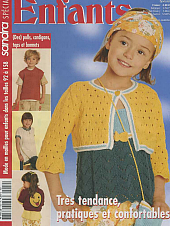SANDRA Enfants, French Edition, Knitting and Crochet Magazine.