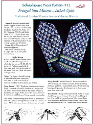 Fringed Sun Mittens, Schoolehouse Press Patterns