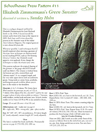 Elizabeth Zimmermann's Green Sweater, Schoolehouse Press Patterns